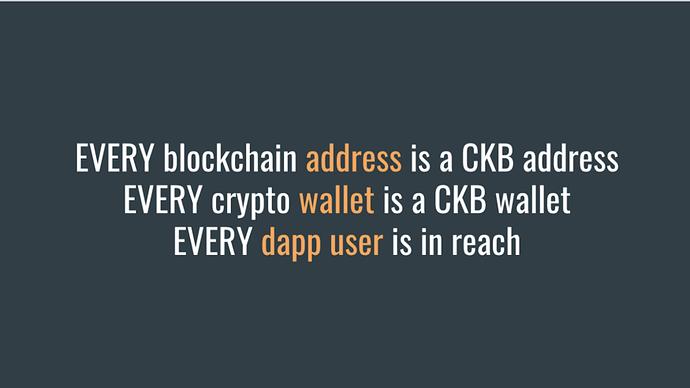 Todas las direcciones de blockchain pueden ser direcciones CKB